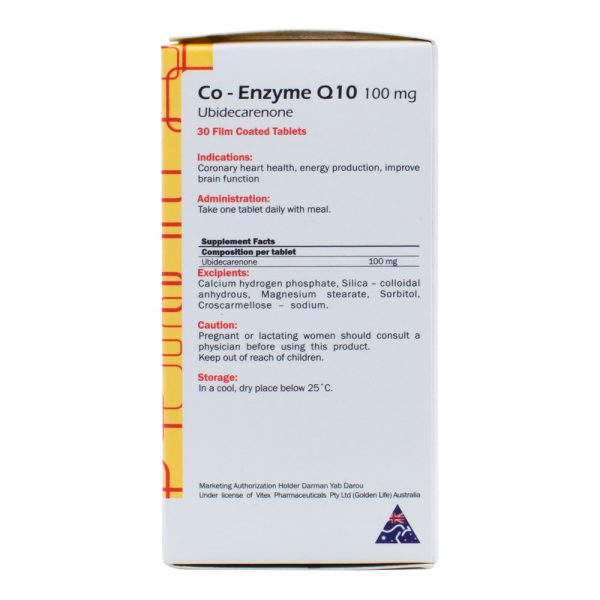 Co-Enzyme Q10 100 mg-Golden Life