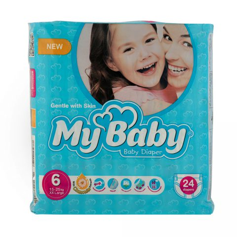 Chamomile Gentle with Skin Diaper Kind Series Size 6 Pack of 24-My Baby