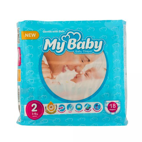 Chamomile Gentle with Skin Diaper Size 2 Pack of 18-My Baby