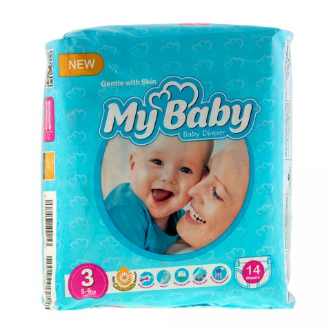 Chamomile Gentle with Skin Diaper Size 3 Pack of 14-My Baby