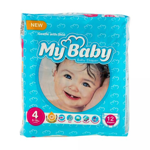 Chamomile Gentle with Skin Diaper Size 4 Pack of 12-My Baby