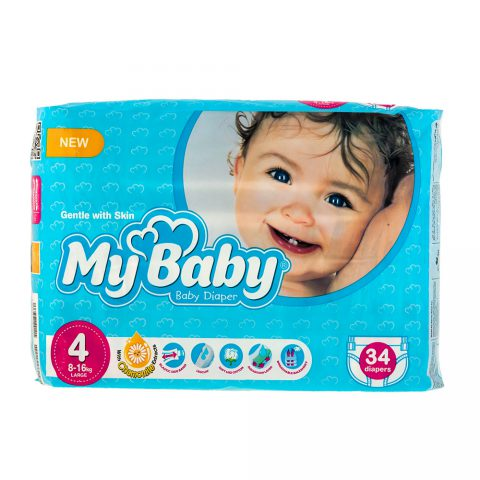 Chamomile Gentle with Skin Diaper Size 6 Pack of 24-My Baby