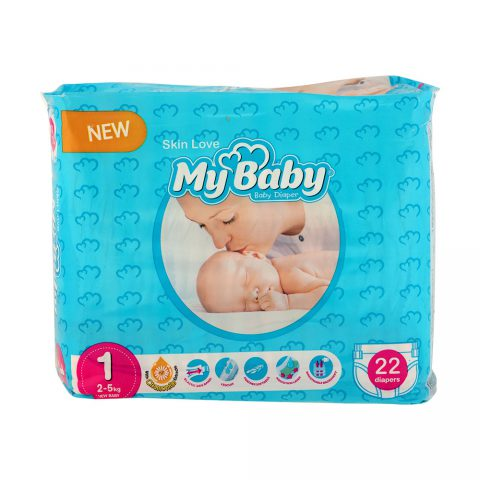 Gentle with Skin Diaper Size 1 Pack of 22-My Baby
