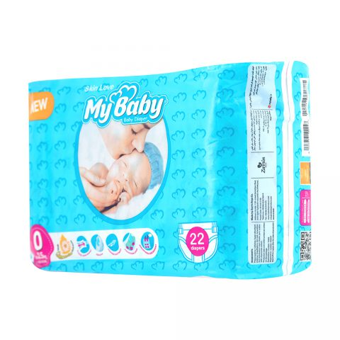 Gentle with Skin Diaper Size 0 Diaper Pack of 22-My Baby