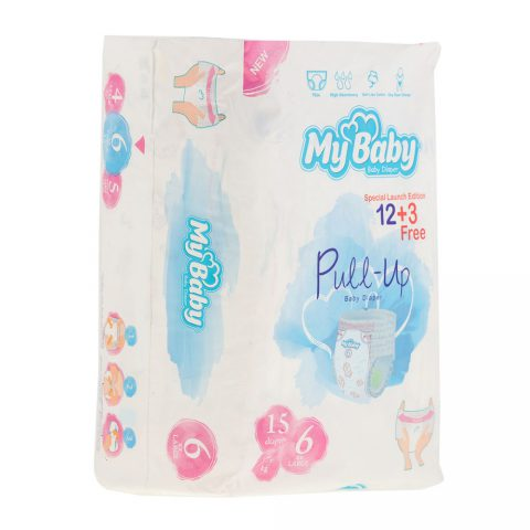 Pull-UP Baby Diaper Size 6 Pack Of 15-My Baby