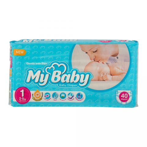 Echo Gentle with Skin Diaper Size 1 Pack of 40-My Baby