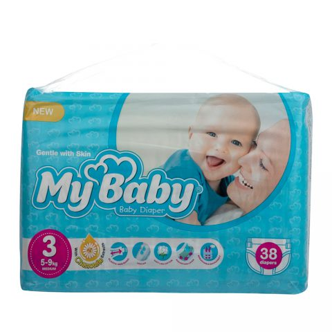 Echo Gentle with Skin Diaper Size 3 Pack of 38-My Baby
