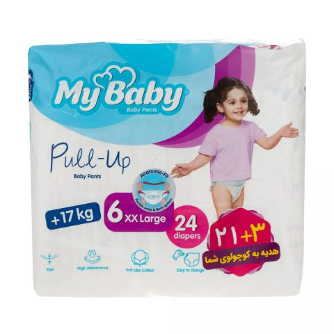 Pull up Baby Pants size 6xx Large 24 diapers-My Baby