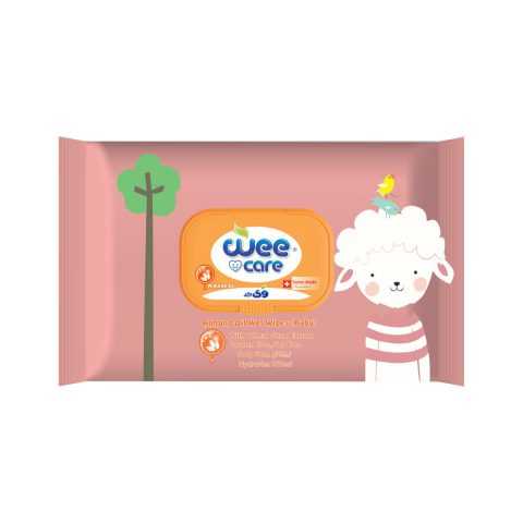 Almond Oil Wet Wipes Baby With Wheat Germ Extract-Wee Care