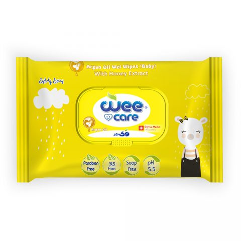 Argan Oil Wet Wipes Baby With Honey Extract-Wee Care
