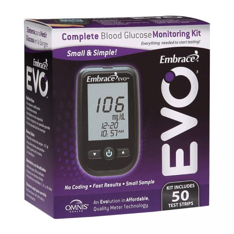 Complete Blood Glucose Monitoing Kit-Evo