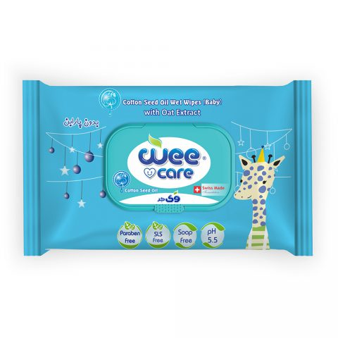 Cotton Seed Oil Wet Wipes Baby With Oat Extract-Wee Care