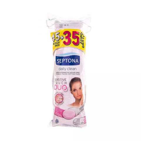 Daily Clean Double Faced Cotton Pads-Septona