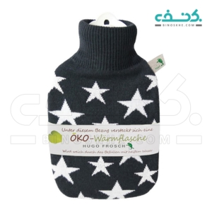 Eco Hot Water Bottle With White Star Cover-Hugo Forsch