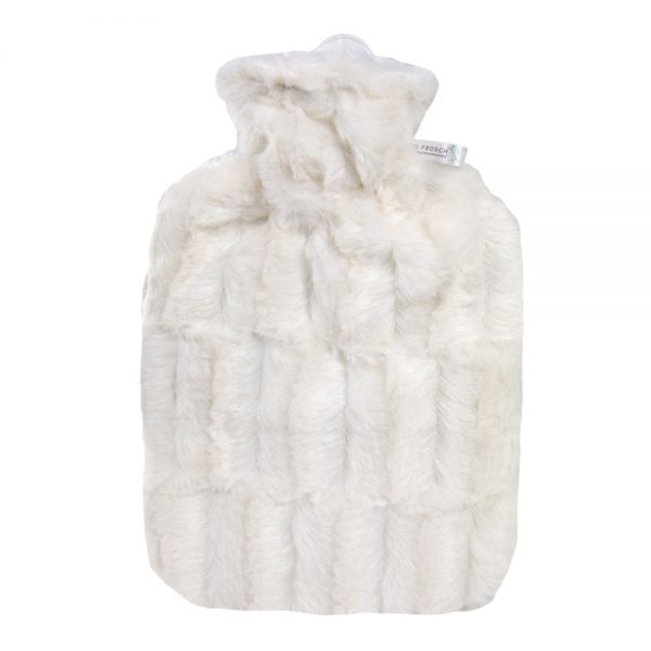 Eco Hot Water Bottle With White Woolen Cover-Hugo Forsch
