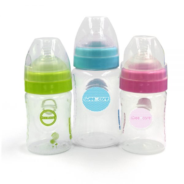 Natural Flow PP Feeding Bottle For 0-6 Month 150ml-Wee Care