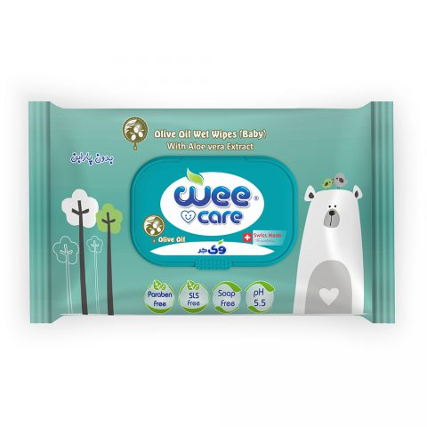 Olive Oil Wet Wipes Baby With Aloevera Exteract-Wee Care