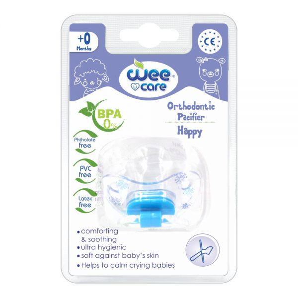 Orthodontic Pacifier Happy For +0 Months-Wee Care
