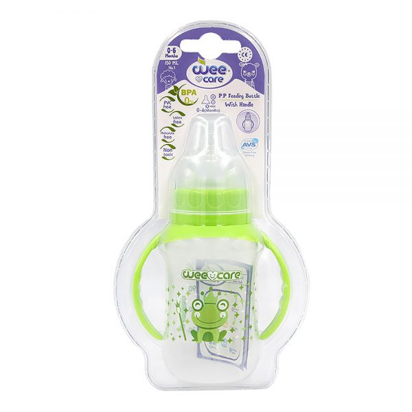 PP Feeding Bottle With Handle For 0-6 Month-Wee Care