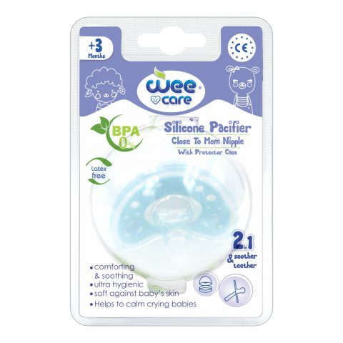Silicon Pacifier Close to Mom Nipple 2in1 For +3 Months-Wee Care