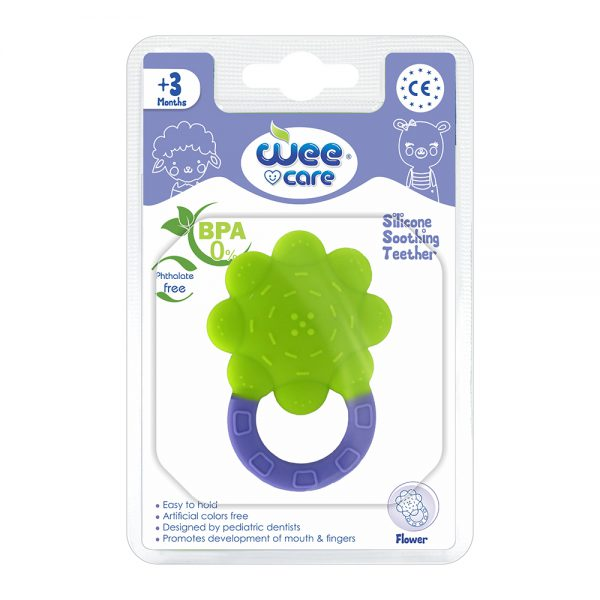 Silicon Sooting Teether Flower For +3 Months-Wee Care