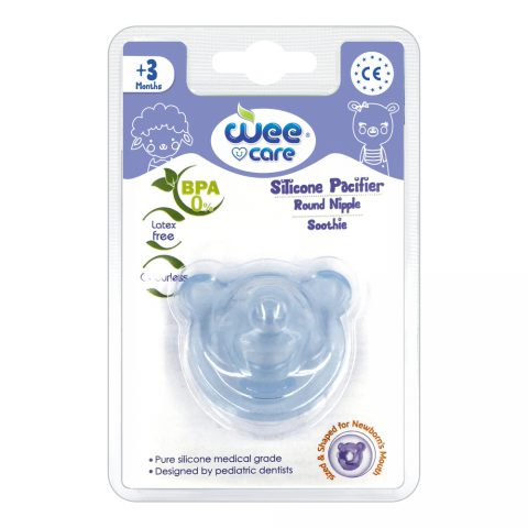 Silicone Pacifier Round Nipple Soothie For +3 Months-Wee Care