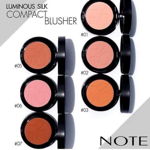 note silk compact blusher